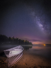 Under the North Star (Teemu Kustila Photography) Tags: lake reflection water outdoors milkyway astrophotography space finland coast clear light r