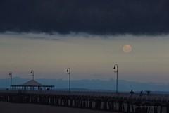 Full moon rising under shelf cloud at Sandgate Pier Shorncliffe IMGP2995g (john.robert_mcpherson) Tags: bay bramble full moon shelf cloud