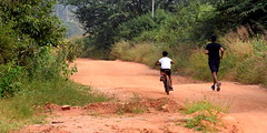 A Dad is a son's first hero ! (Sriini) Tags: man boy father son wild cycle running health fresh air sundaylights