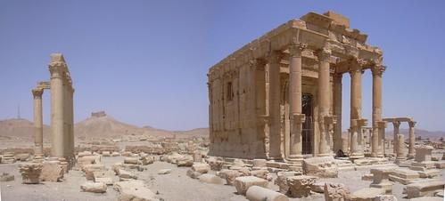 Palmyra (Tadmor), Tempel des Baal Shamin, Gott des Sturms und des Regens, 17 n.Chr. durch Kaiser Aurelian beendet