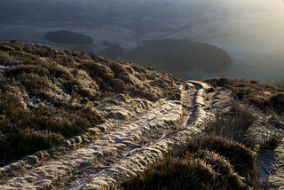Frosty path to Kinder Scout