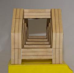Modular origami truss bridge, longitudinal view (ISO_rigami) Tags: modular origami a4 zebra 3d paper construction