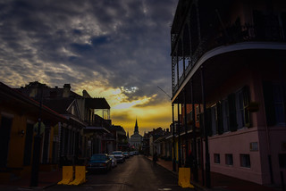 French Quarter New Orleans LA at dawn