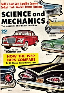 Science and Mechanics 1959 Cars Comparison