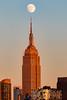 Empire State Building ([ raymond ]) Tags: antenna architecture empirestatebuilding moon newyork nyc skyscraper 0b5a5159 goldenhour