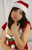 Santa, We Can't Do Lunch. (emotiroi auranaut) Tags: girl cute adorable pretty beauty beautiful surprised disappointed concerned disapprove disapproving christmas santaclaus mall xmas costume teen teenage teenager face hair