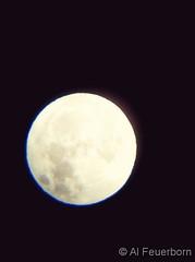 November 5, 2017 - A very bright full moon. (Al Fuerborn)