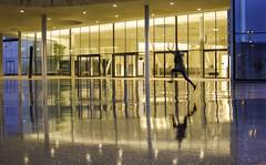 Double Jump (CoolMcFlash) Tags: person night jump happy light isolated architecture reflection puddle water rain vienna canon eos 60d silhouette nacht street streetphotography sprung springen glücklich beleuchtet architektur spiegelung pfütze wasser regen wien kontur fotografie photography tamron a007 2470 motion bewegung blur
