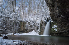 Winter waterfall (moritzgyssler) Tags: baselland landscape winter wasserfall snow