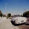 San Jose (bior) Tags: square hasselblad500cm hasselblad kodakfilm mediumformat ektachrome e100vs kodakektachromee100vs expiredfilm whitepicketfence burbank sanjose volkswagen corvette sidewalk