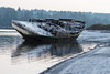 Dogpatch Hulk Stern Quarter Shore HP (Please check albums) Tags: boat wreck beach shipwreck frost beached hulk wooden sheer sheerline tug reflection ladysmith bc