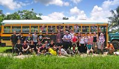 12StudentsInfrontOfBus (geomappingunit) Tags: 2013 belize students group photo groupphoto martinmowforth ianwhitehead