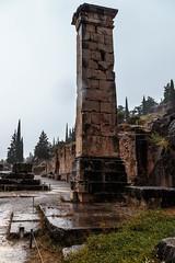 Delphi (CaptSpaulding) Tags: greece delphi old ancient historic building buildings statue stairs rain sky canon color contrast clouds closeup athens bank treasury ruins