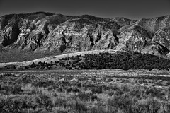 An Unnamed Peak of the Pavant Range (Black & White)
