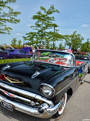 1957 Chevy Bel Air (Chad Horwedel) Tags: 1957chevybelair chevybelair chevy chevrolet belair classic car convertible 4thofjulycarshow napervillecrossings naperville illinois