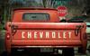 Chev (HTT) (13skies) Tags: happytruckthursday truck pickuptruck tailgate older chevrolet orange classic htt truckthursday driving stopsign fun sony
