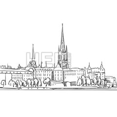 Stockholm Panorama Famous Outline Landmark Sketch (Hebstreits) Tags: architecture art artwork beautiful black capital city cityscape doodle drawn famous gamla hall hand illustration isolated landmark landscape line old outdoor outline palace panorama royal scandinavian scenery scenic sea silhouette sketch skyline stan stockholm sweden swedish symbol tourism tower town travel urban vector view white