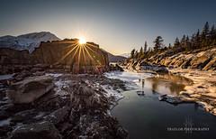Sitting on the rocks (Traylor Photography) Tags: alaska ebbandflow sitting tide birdpoint glacialrocks turnagainarm sunburst