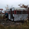 Color Coordinated (interrailing) Tags: masks ohio menacingpanda mask panda eagle abandoned trailerpark quarry