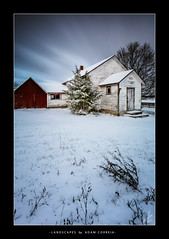 Holleford School House (Adam C Images) Tags: select nikon d800 full frame dslr snow snowfall first winter fall rural landscape clouds sky wide angle stream long exposure tokina 1735 tamron 2470 nisi filters v5 filter holder polarizer pro grad nd graduated neutral density soft edge 4 stop 10 lee big stopper