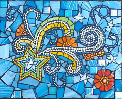 youre a super star (toadranchlady) Tags: mosaicart mixedmediamosaic temperedglass stainedglass foundobjects