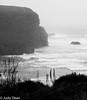 Mawgan Porth (judy dean) Tags: judydean 2017 cornwall mawganporth cove blackandwhite mono moody storm surf spray mist