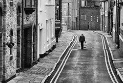 Walking The Road.. (Philip R Jones) Tags: chester walk shopping candid lines doubleyellowlines waĺking composition isolation streetphotography street