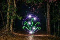 Light Planting III (stephenk1977) Tags: australia queensland qld brisbane nikon d3300 light painting art brushes pen bubble tube klarusxt2cr thorfiretk15s flashlight torch plant planting night