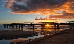 Fiery Sky (Tilney Gardner) Tags: sunset boscombe dorset nikon southcoast clouds pier lowtide
