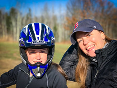 Hayley and Tonya (brentdanley) Tags: dirtbike johndebartolo tonyaholt hayleydanler motorcycle scarborough maine unitedstates us