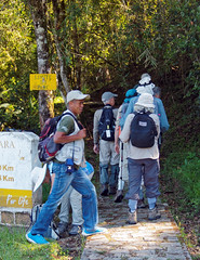 Into the Forest (LeftCoastKenny) Tags: madagascar ranomafananationalpark day7 tourists guides sign trail