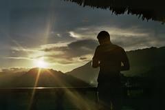 Tung in the sunset (InSoManyWords) Tags: film fujifilm fujisuperia200 rollei35 35mm vietnam sunset maichau