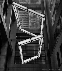 NYC Building Atrium (HarrySchue) Tags: newyorkcity blackwhite monchrome architecture abstract buildings