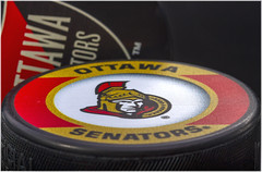 Macro Mondays – Games or Game Pieces (Kev Gregory (General)) Tags: macromondays gamesorgamepieces couple ice hockey puck watching ottawa senators play home against toronto maple leafs canadian tire centre arena kanata canada ontario nhl rubber emblem warrier logo sens strength senator soldier determination canon 7d macro mondays 100 100mm f28 usm ef challenge theme vulcanised