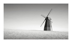 Windmill (GlennDriver) Tags: black white bw long exposure windmill sussex england countryside canon nd mono monochrome