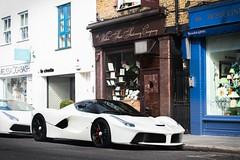 Gorgeous Laf (SirMatvey) Tags: beautiful canon england uk london pearl gold money power hypercar supercar carspotting car pearlwhite whitelaferrari whiteferrari white laferrari ferrari