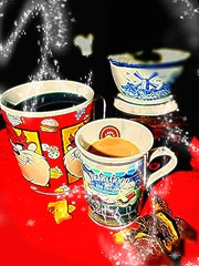 "Coffee Break at Home.  ""flickrfriday"" (marieschubert1) Tags: beverage hot beans aroma cups mug flavor relax coffeebreak flickrfriday"
