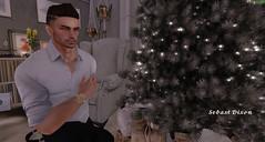 Christmas Gift (Sebast V. Nephelym) Tags: ysoral coldash posesion watch olympe shirt animation pose editorial male unisex taylor pants chinos white dean black