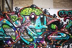 Smile! (chearn73) Tags: night streetart graffiti winnipeg manitoba osbornevillage urban city backalley