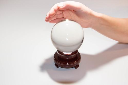 Crystal ball and hand