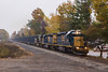 A Helping Hand (sully7302) Tags: csx river subdivision line west shore new york central conrail sd402 emd q434 bergenfield bergen county yn3b train freight transport fog autumn foliage railroad