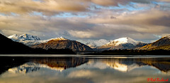 View from Ballachulish harbour (red.richard) Tags: reflection landscape ballachulish harbour snow mountains water