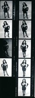Lisa Philadelphia Studio Photo Shoot Kodak TMY 35mm B&W Contact Sheet Proof Print July 1995 IMG_0009