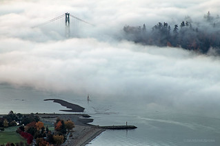 First Narrows Fog ☁☁☁ Vancouver, BC
