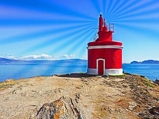 Faro de Punta Robaleira, Cangas do Morrazo (Pontevedra)