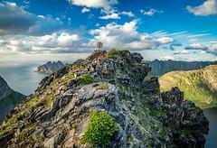 Husfjellet 632m, Senja Island, Troms, Norge (North Face) Tags: skaland troms norwegen mountain mountains sun sunset clouds rays summer nature sea ocean evening norge norway island senja landscape seascape sony a7m2 a7 ii sky peak