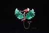 Malachite, coral silver brooch (Canadian Pacific) Tags: sterling silver brooch scottish malachite coral safety pin chain 2017aimg4484