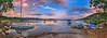 Ανατολή στο Βαλτούδι Sunrise at Valtoudi Panorama (Dimitil) Tags: pelio panorama milina sea pilio seascape reflections greece hellas sunrise clouds colors