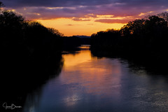 Coosa River Sunrise (Jason Blalock) Tags: sunrise sunset river reflection color water coosariver