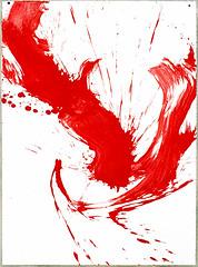 2000.09-2001.02[4] Paper red ink and metal plate oil painting Taipei Shenkeng Caodiwei studio 纸上朱墨与金属板上油画 台北深坑草地尾工作室-29 (8hai - painting) Tags: 2000092001024 paper red ink metal plate oil painting taipei shenkeng caodiwei studio 纸上朱墨与金属板上油画 台北深坑草地尾工作室 yang hui bahai